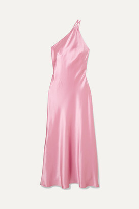Galvan Roxy One-shoulder Silk-satin Maxi Dress