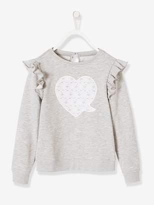 Vertbaudet Sweatshirt with Frills for Girls