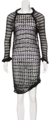 Etoile Isabel Marant Open-Knit Midi Dress