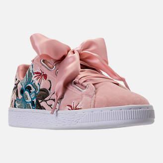 Puma Women's Basket Heart Hyper Emboss Casual Shoes