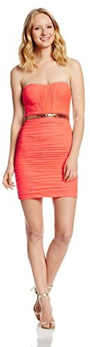 Adrianna Papell Hailey Logan by Juniors Strapless Shoulder Lace Up Back Dress