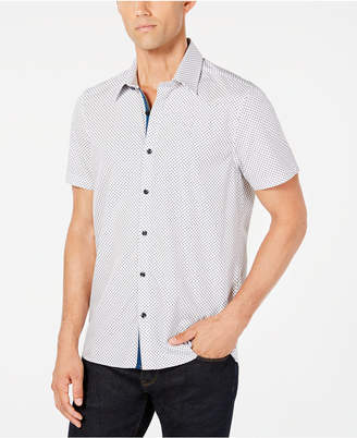 Ryan Seacrest Distinction Men's Diamond Grid Shirt, Created for Macy's