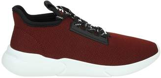 Moschino Sneakers In Fabric Color Bordeaux