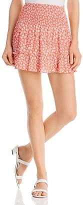 Aqua Smocked Floral Skirt - 100% Exclusive