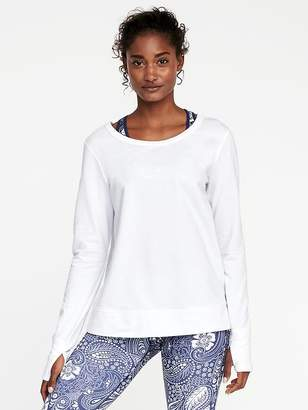 Old Navy Lattice-Back Sweatshirt for Women