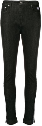 MSGM skinny logo stripe jeans
