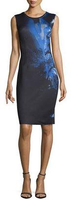 Elie Tahari Gwenyth Sleeveless Printed Sheath Dress $428 thestylecure.com