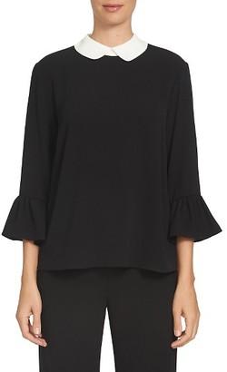 Women's Cece Contrast Collar Blouse $79 thestylecure.com