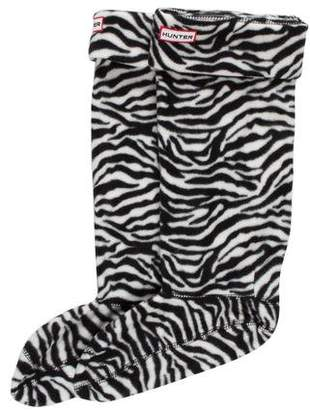 Hunter Fleece Printed Sock