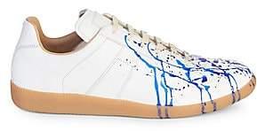 Maison Margiela Men's Painter Lo-Top Leather Sneakers