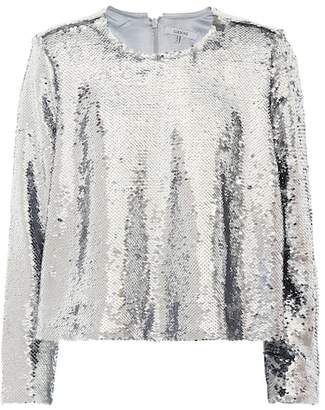 Ganni Sequined top