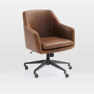 west elm Helvetica Desk Chair- Leather