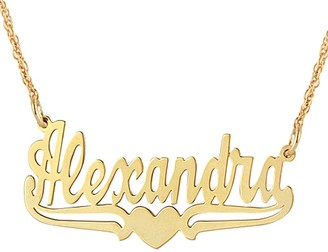 Personalized Name Plate Necklace - 14K Gold