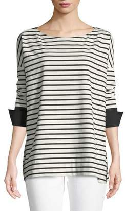 Lafayette 148 New York Piper Oversized Striped Top