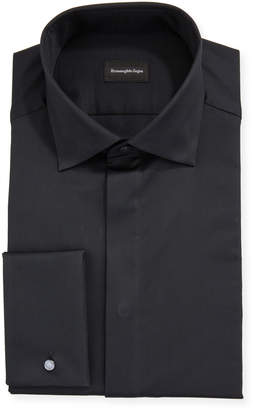 Ermenegildo Zegna Men's Bib-Front Formal Dress Shirt