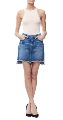 Good American The Stagger Mini Skirt