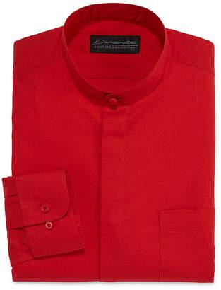 DAMANTE D'Amante Banded-Collar Dress Long Sleeves Shirt - Big & Tall