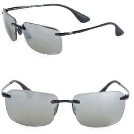 Ray-Ban Logo Etched Square Sunglasses