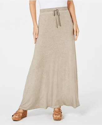 43389e9b64 Style & Co Drawstring Side-Slit Maxi Skirt