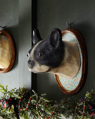 Co Cody Foster & Boston Terrier Dog Wall Mount in Oval Frame