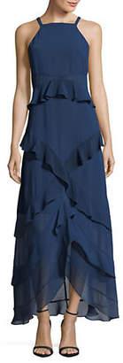 Rachel Roy Tiered Chiffon Sleeveless Maxi Dress