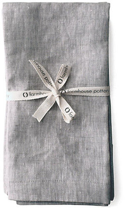 Set of 4 Washed Dinner Napkins - Light Gray - Farmhouse Pottery