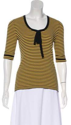 Marc Jacobs Bow-Accented Striped Top
