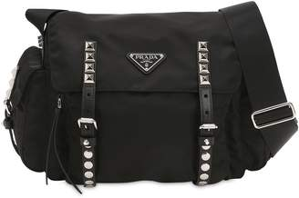 c9989b282ced Prada Nylon Shoulder Bag W  Studded Straps