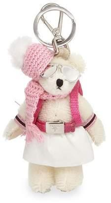 Prada Bear Backpack Charm, White/Pink (Bianco)