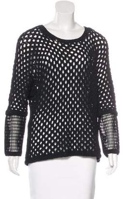 Yigal Azrouel Open Knit Cutout Sweater