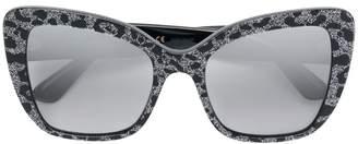 Dolce & Gabbana Eyewear glitter leopard-print sunglasses
