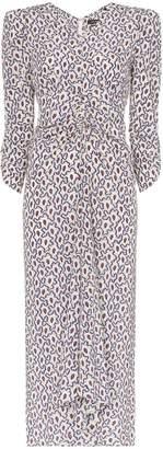 Isabel Marant Albi abstract print stretch-silk midi dress
