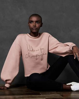 Ted Baker DAYZEI Champagne slogan cotton sweatshirt