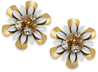 Kate Spade 14k Gold-Plated Bead & Crystal Coated Stud Earrings