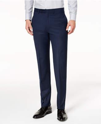 Calvin Klein Men Slim-Fit Stretch Mini-Grid Dress Pants