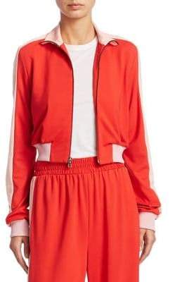 Alice + Olivia Air Cropped Track Jacket