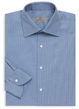 Canali Micro Print Cotton Shirt