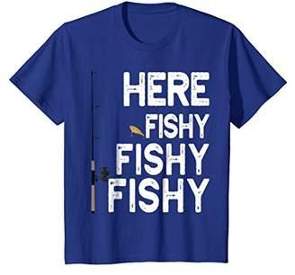 Here Fishy Fishy Fishy T-Shirt Cool Fisherman Gift Shirt