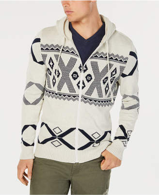 American Rag Men's Ski Geometric Hooded Sweater