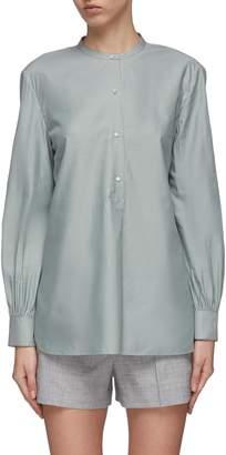 Theory Half-button placket band collar tunic shirt