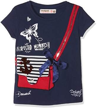 Desigual Girl's Ts_Earwig T-Shirts,(Manufacturer Size: 13/14)