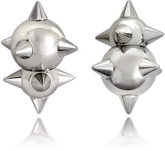 DSQUARED2 Pierce Me Palladium Plated Metal Spiked Earrings