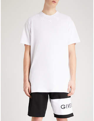 Givenchy Star appliqué cotton-jersey T-shirt