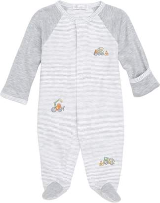 Kissy Kissy Dig It Embroidered Pima Cotton Footie