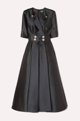 Alexis Mabille Crystal-embellished Satin Maxi Dress - Black