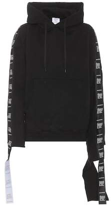 Vetements Cotton-blend hooded sweatshirt