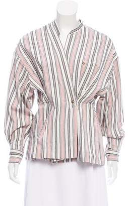 Isabel Marant Woven Striped Blouse