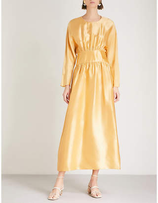 DEITAS Hermine silk-charmeuse dress