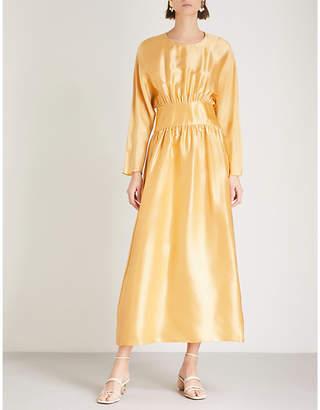 DEITAS Hermine silk-charmeuse dress