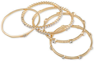 ABS by Allen Schwartz Gold-Tone 5-Pc. Set Crystal Studded Bangle Bracelets
